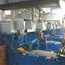 Multi-machine high furnace centralized lead supply